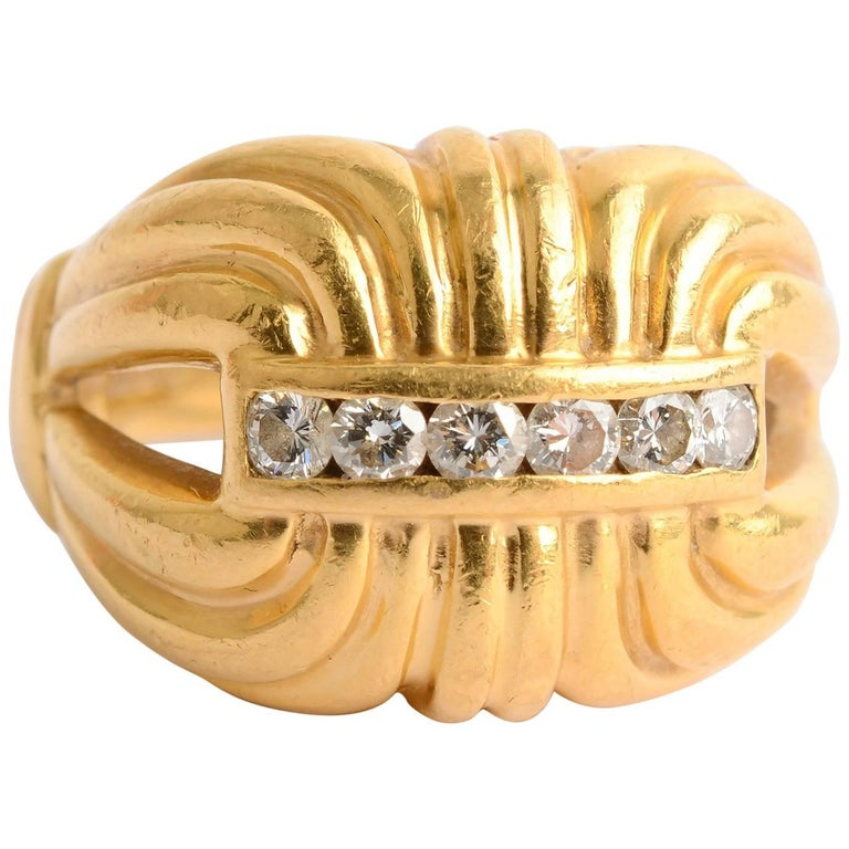 Lagos Gold and Diamond Ring