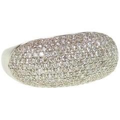 Diamond Bar Cocktail Ring