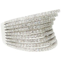 Diamond Rows Cocktail Ring