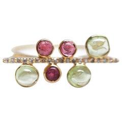 Color Burst Diamond Bar Ring