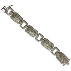 Estate Designed Diamond Bracelet in 18 Karat White Gold