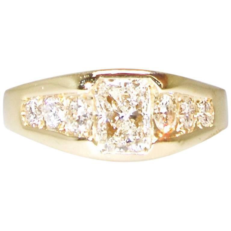 Wedding Ring with Fine Diamonds