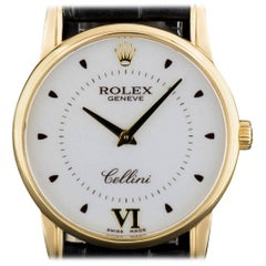 Rolex Yellow Gold Cellini Manual Wind Wristwatch Ref 5116/8