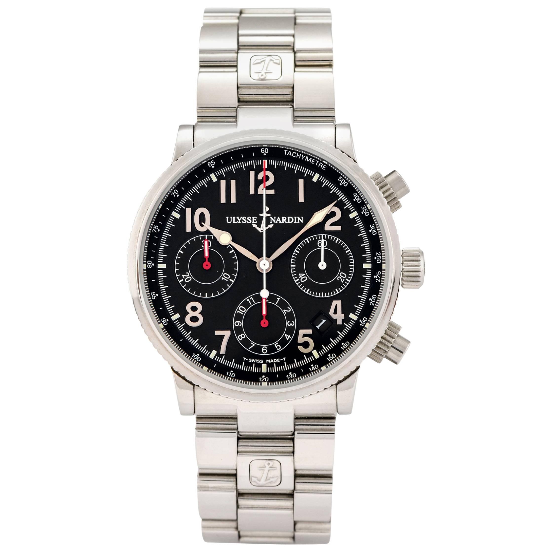Ulysse Nardin Stainless Steel Marine Chronograph Self-Winding Wristwatch