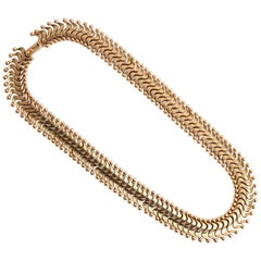 Retro Gold Links Necklace