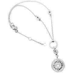Bulgari Astrale Cerchi Diamond Pendant White Gold Link Necklace