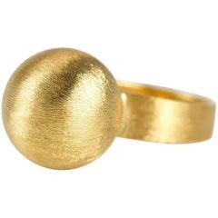 1960s 14 Karat Ball Ring