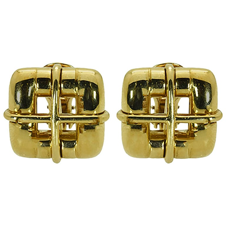 Pair of Gold Ear Clips by Tiffany & Co.