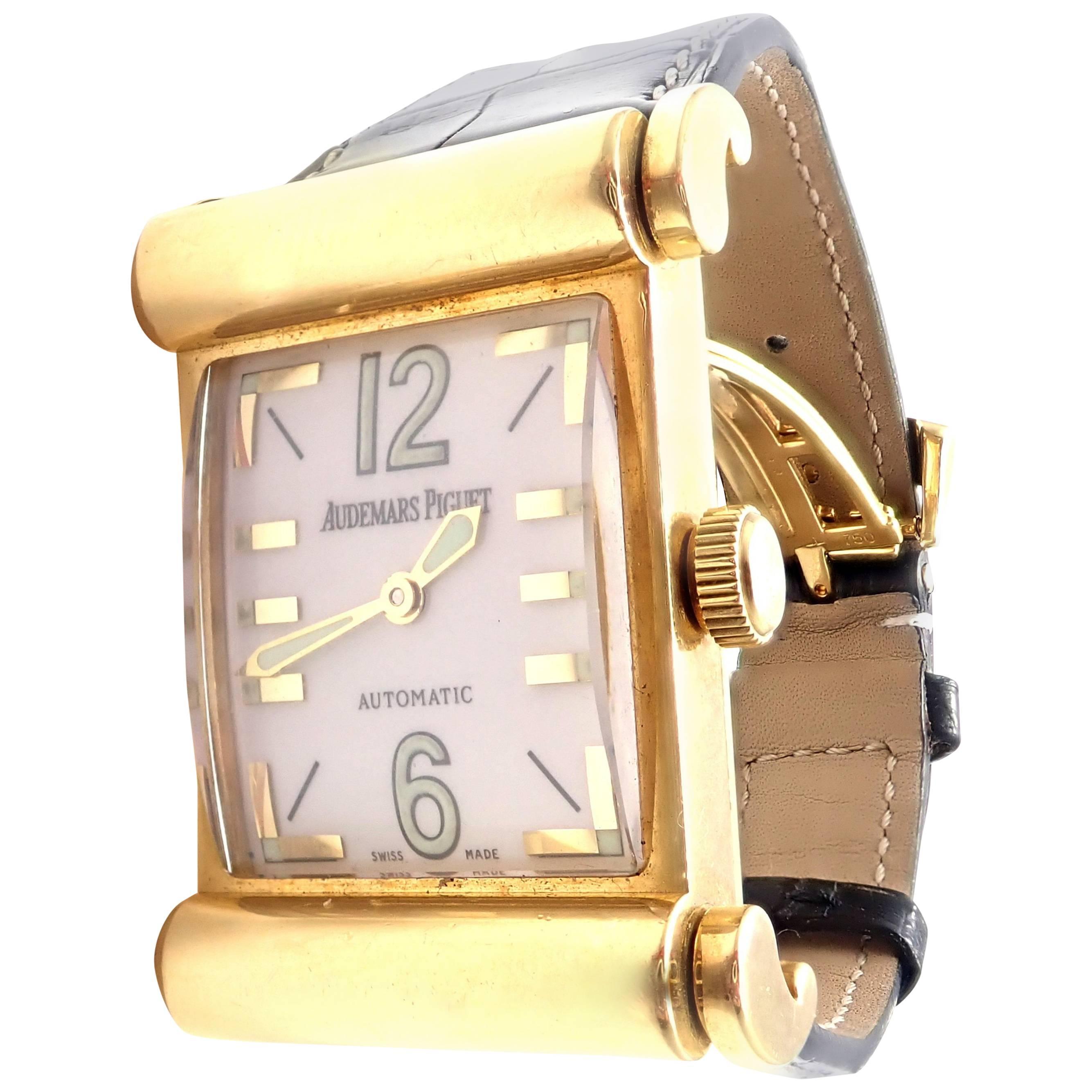 Audemars Piguet Yellow Gold Canape Automatic Wristwatch