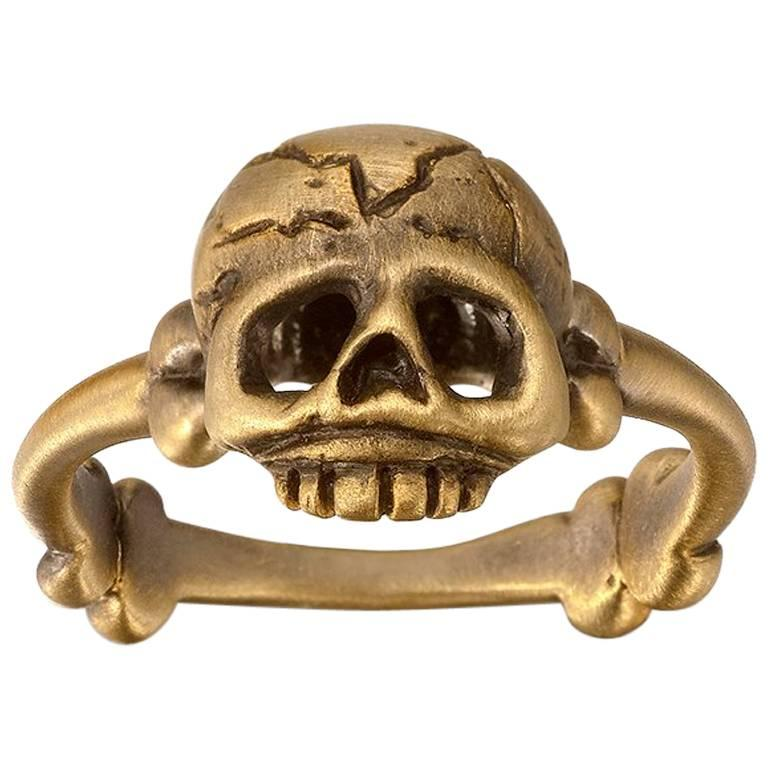 Wendy Brandes Skull Gold Ring
