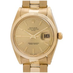 Rolex Yellow Gold Oyster Perpetual Date self winding wristwatch, Ref 1500
