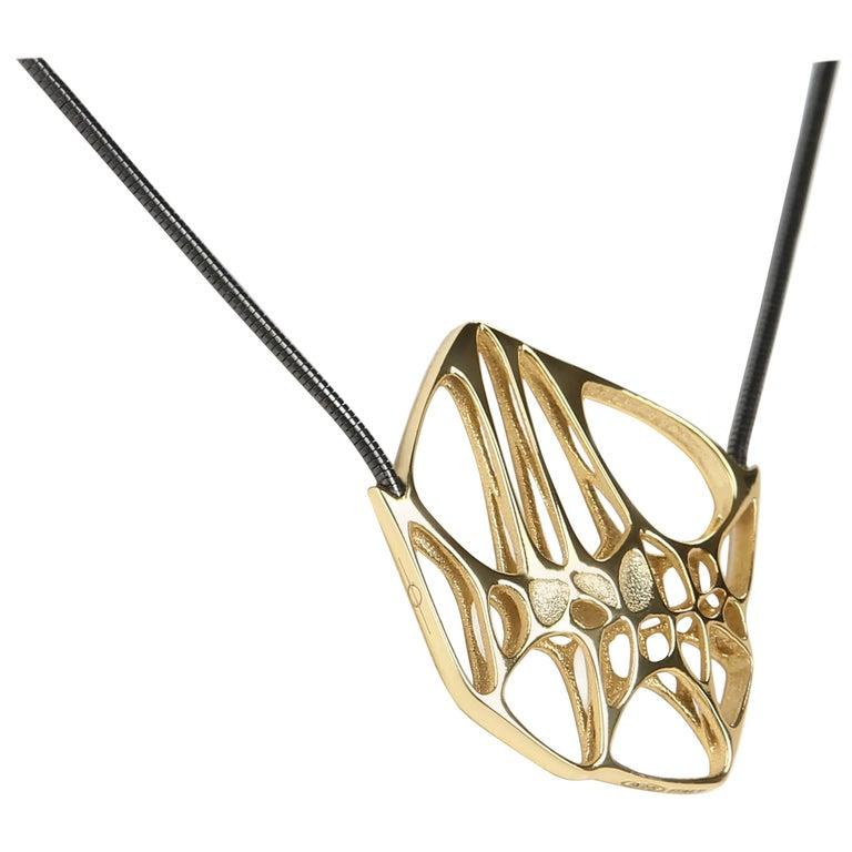 FLOWEN Sterling Silver Hexa XS Pendant Necklace in 18K gold