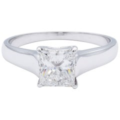 David Rosenberg 1.03 ct Princess G/VS2 Solitaire Setting Engagement Diamond Ring