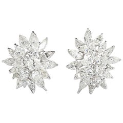 Diamond Cluster Earrings 13 Carat
