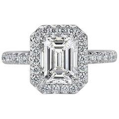 Mark Broumand 2.95 Carat Emerald Cut Diamond Engagement Ring in Platinum