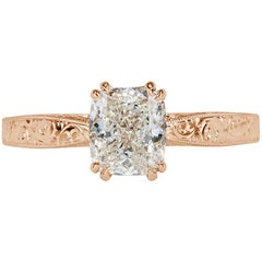 Mark Broumand 1.54 Carat Cushion Cut Diamond Engagement Ring