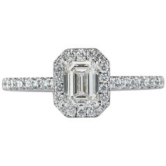 Mark Broumand 1.12 Carat Emerald Cut Diamond Engagement Ring