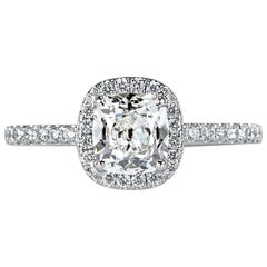 Mark Broumand 1.33 Carat Old Mine Cut Diamond Engagement Ring