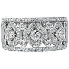 Mark Broumand 1.00 Carat Round Brilliant Cut Diamond Right-Hand Ring