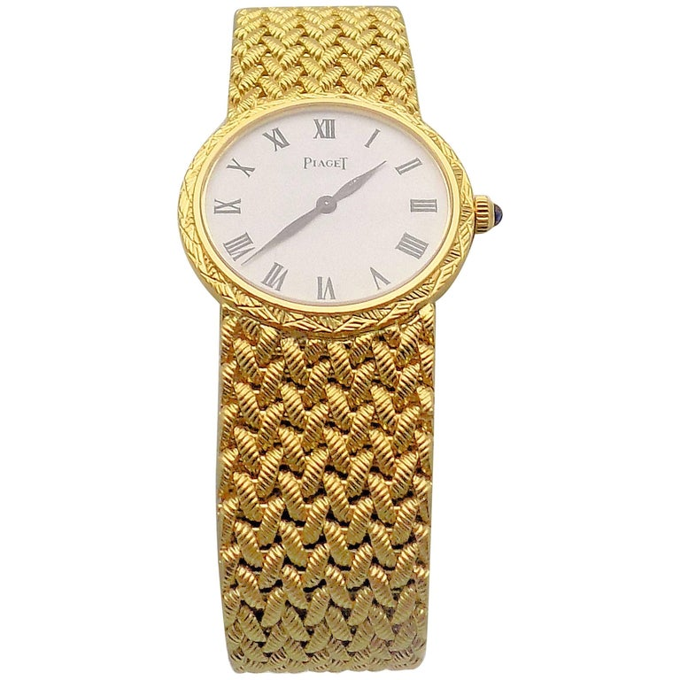 Gold Piaget Wrist Watch For Sale