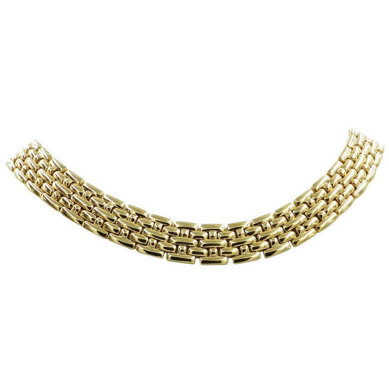 18 Karat Yellow Gold Garavelli Link Necklace For Sale