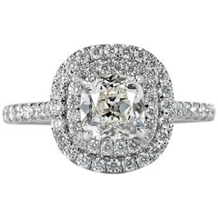 Mark Broumand 1.73 Carat Old Mine Cut Diamond Engagement Ring