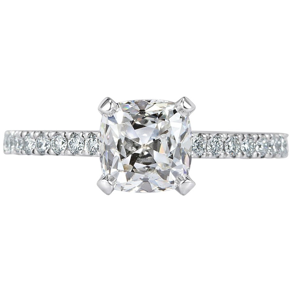 Mark Broumand 1.76 Carat Old Mine Cut Diamond Engagement Ring
