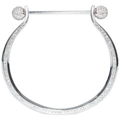 4.00 Carat Round Diamond 18 Karat White Gold Modern Tresor Eternal Charm Bangle