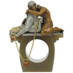 """Karl Wunderlich Silver Bronze Sapphire Ring """"Koenigskinder"""" """"King´s Children"""""""
