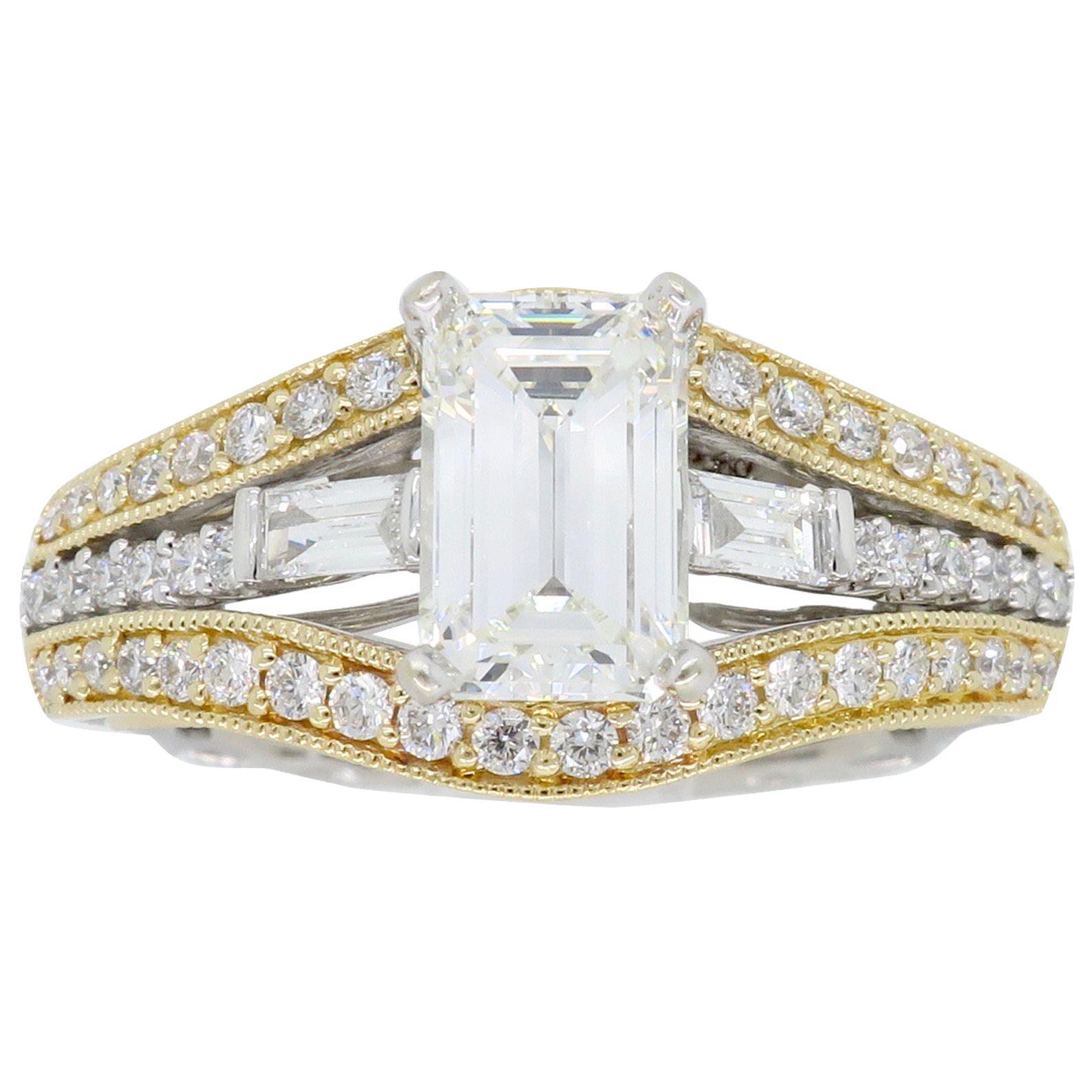 1.50 Carat Emerald Cut Diamond Ring