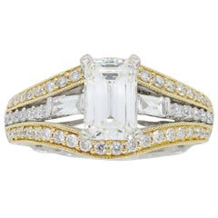1.50 Carat Emerald Cut Diamond Ring