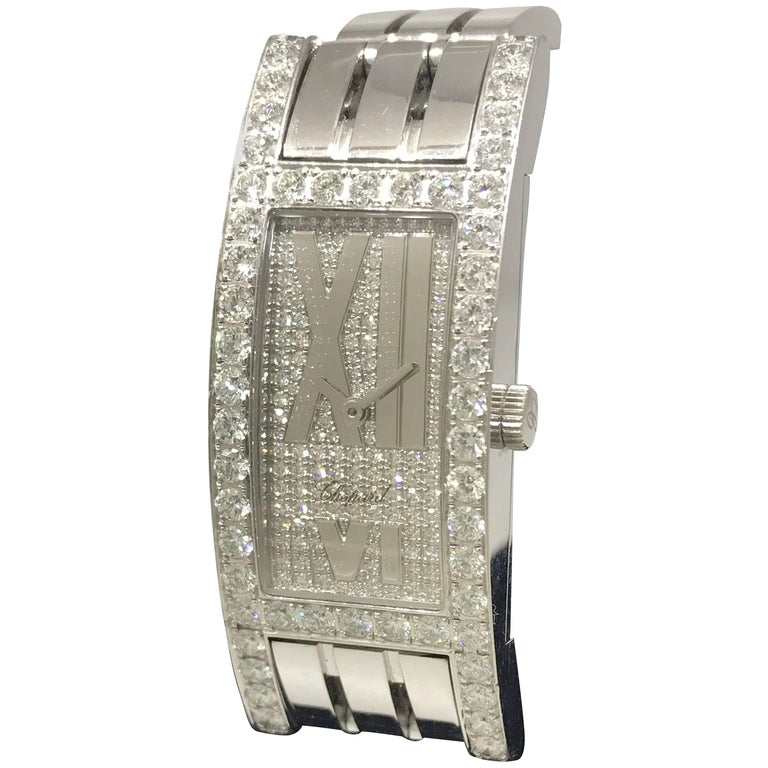 Chopard Classique Femme 18 Karat Gold and Diamond Bracelet Ladies Watch New