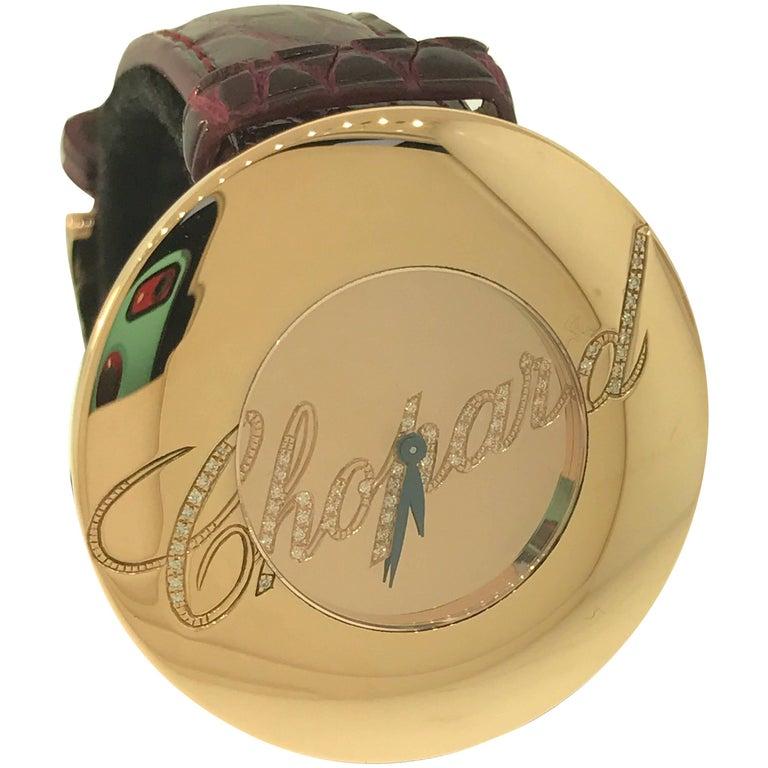 Chopard Ladies Rose Gold Diamond Chopardissimo Wristwatch