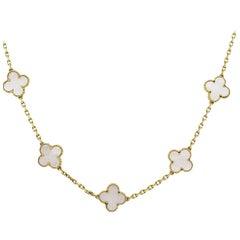 Van Cleef & Arpels 20 Motif Mother-of-Pearl Necklace