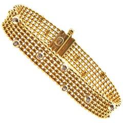 """Jessica"" 18 Karat Yellow Gold Diamond Bracelet"