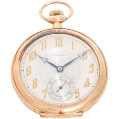 American Watch Co. Yellow Gold Waltham Presentation Manual Pocket Watch