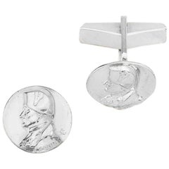 Napoleon Solid Sterling Silver Cufflinks