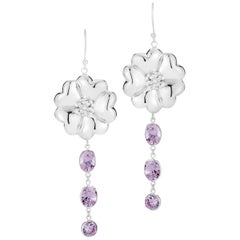 Amethyst Blossom Mixed Stone Earrings