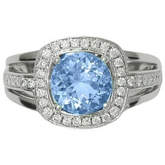 Frederic Sage 1.78 Carat White Gold Aquamarine One-of-a-Kind Ring