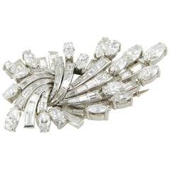Vintage Platinum and Diamond Brooch
