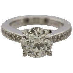 Round Brilliant WGI Certificated 2.62 Carat Diamond Ring