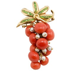 René Boivin Gooseberries Brooch, Paris, 1940