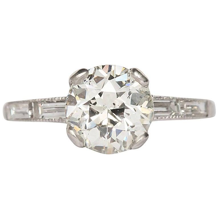 1.47 Carat Diamond Platinum Engagement Ring