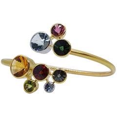 Multi Gem Cuff Bracelet Atelier Munsteiner