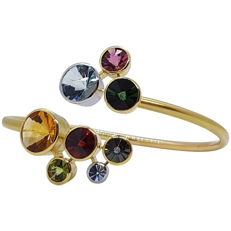 Multi Gem Cuff Bracelet Atelier Munsteiner For Sale