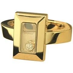 Chopard Happy Diamonds Yellow Gold Rectangular Shape Ring 82/6729