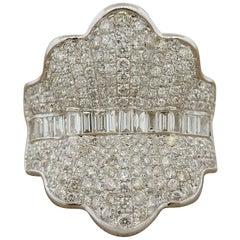 Diamond Pave Gold Ballerina Ring