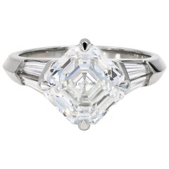 4.01 Carat Royal Asscher Cut Diamond Ring in Platinum, GIA Certified