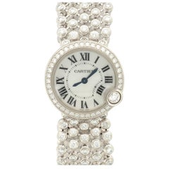 Cartier White Gold Diamond Ballon Blanc Bracelet Wristwatch, circa 2014
