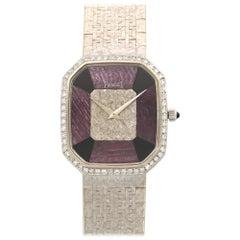 Piaget Ladies White Gold Diamond Rubelite Onyx Bracelet Manual Wristwatch